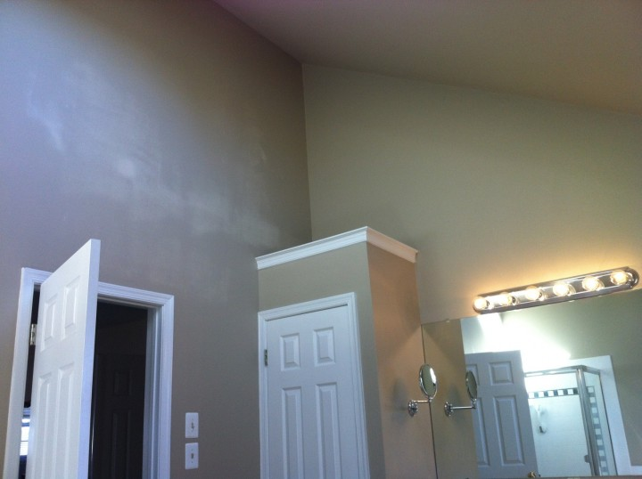 Interior Painting using Sherwin Williams's emerald matte finish