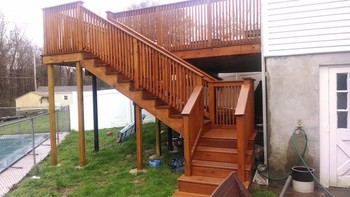 After Behr Deck Transparent near Philadelphia, PA